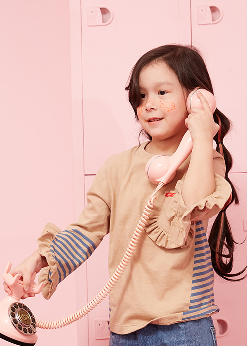 LOVELY FRILL T-SHIRTS BEIGE